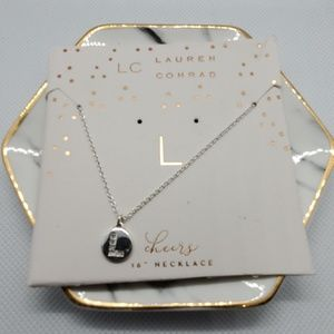 NWT LC Lauren Conrad L Initial 16 Inches Necklace